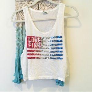 Victoria's Secret PINK Patriotic Crop Top 🇺🇸